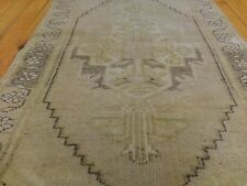 "Antique 1900-1930s 1'8""×3'7""Wool Pile Tribal Rug Konya Region Turkey"