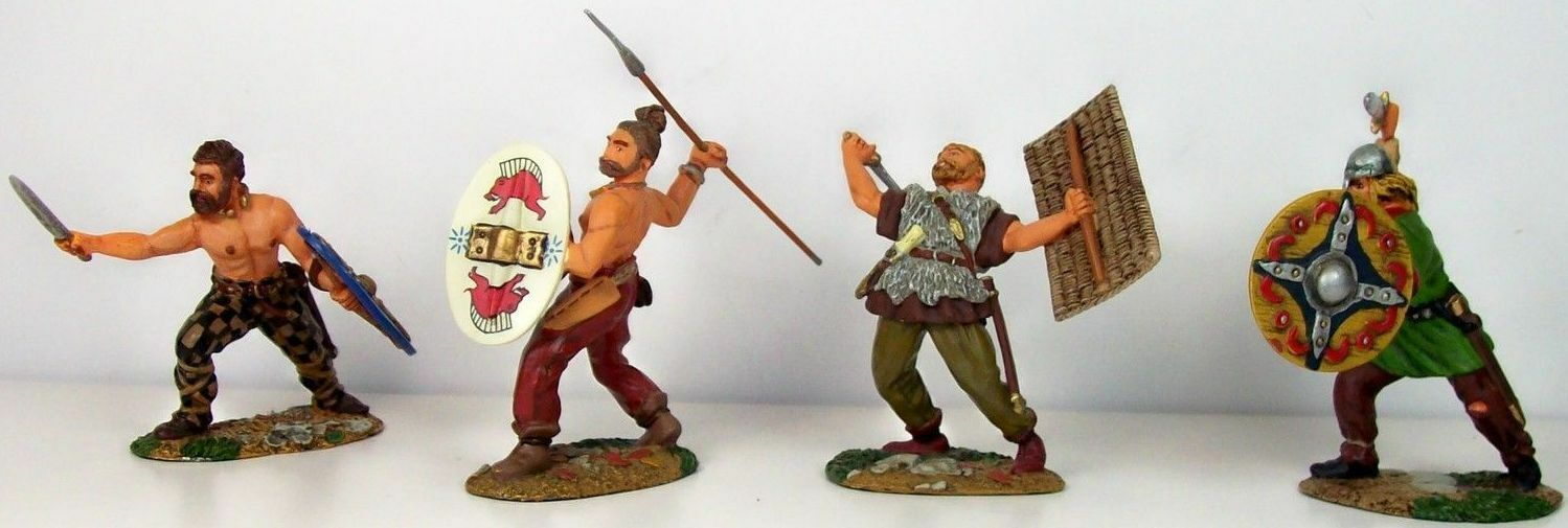 Conte Collectibles Ltd.Peltro Romana Impero SPQR021 Barbari Difesa Set MIB