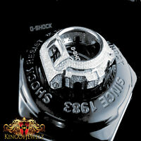 Men's Casio G-shock/g Shock 6900 Cz White On White Watch Bezel 2ctw