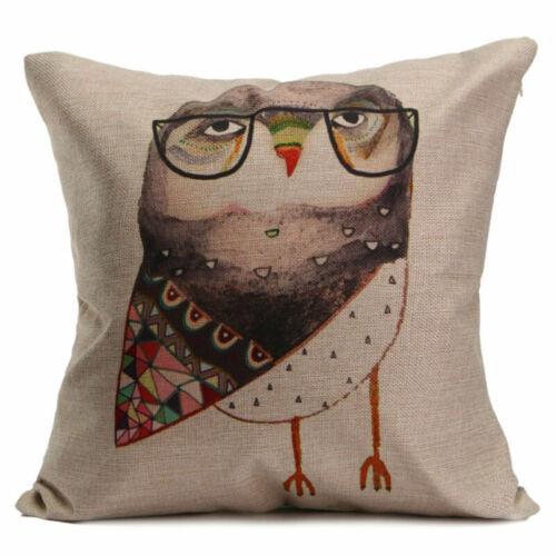 Animal World Home Decor Linen Pillow Case Sofa Waist Throw Cushion Cover