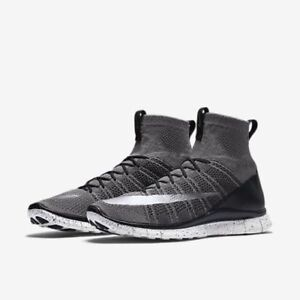 d06d077f4e449 NEW SZ 12 MEN S NIKE FREE MERCURIAL SUPERFLY FLYKNIT SHOE DARK GRAY ...