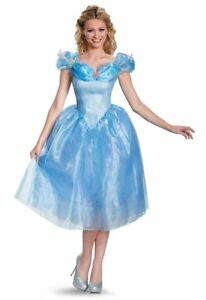 Womens Adult Walt Disney CINDERELLA Deluxe Dress Costume