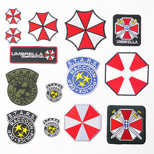 RESIDENT-EVIL-Ultimate-Umbrella-Patch-Series-Movie-Iron-On-Patches-UK-Seller