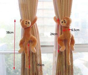 Curtain-Buckle-Strap-Cartoon-Monkey-Rope-Clip-Decor-Kids-Toy-Cute-2