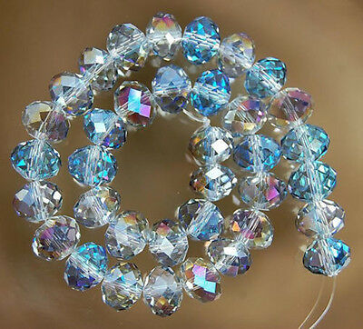 Wholesale clear AB Crystal Faceted Abacus Loose Bead 6*8mm  68pcs
