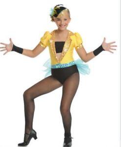 Details about Dance Costume , ADULT MEDIUM , NEW , jazz / tap , black,  yellow \u0026 blue