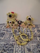 Lot Peluche plush cuddy toy Marsupilami AJENA Marsupial jaune noir yellow black