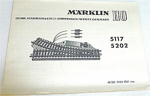 Marklin-5117-5202-Manual-68-505-Ynn-0961-Ma