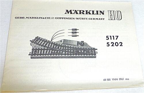 Märklin 5117 5202  Anleitung 68 505 YNN 0961 ma