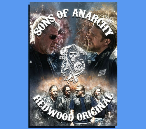 Box Canvas: Sons Of Anarchy Grunge Art Various Sizes Ready To Hang