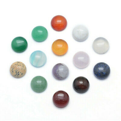 20x Half Round//Dome Mix Photo Glass Flatback Cabochons for DIY Project 10x3.5mm