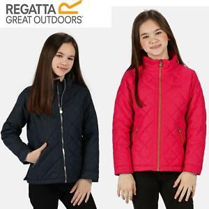Regatta Kids Zalenka Quilted Insulated Zipped Pocket Jacket Boys Girls