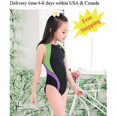 Yingfa 976-1 one piece racing and training swimsuit for girls Free shipping