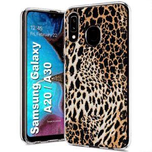 Protective Clear Thin Gel Phone Case Samsung Galaxy A20 Leopard Animal Print Ebay