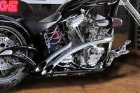 Santee Venom Exhaust + Heat Shields Harley Softail Cross Bones Bad Boy Springer