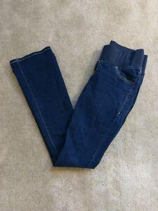 4e62170a4249d Old Navy Maternity Jeans Sz 2 Reg Rockstar Demi-Boot Dark Blue Under ...