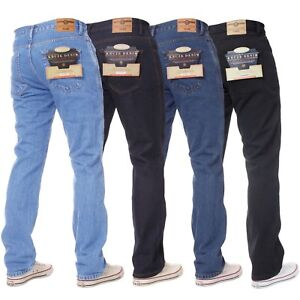 Kruze-Mens-Regular-Fit-Straight-Jeans-Denim-Pants-Big-Tall-King-All-Waist-Legs