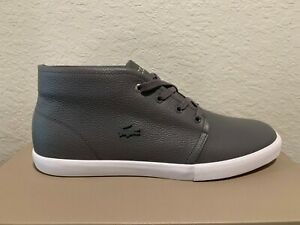 Lacoste-Asparta-319-Men-039-s-Leather-Fashion-Lace-Up-Sneakers-Shoes-Trainers-Gray