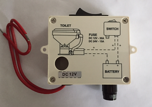 Marine Toilet Macerator /& Pump TMC Boat Toilet Pump With Base /& Switch 12 Volt