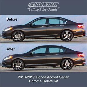 finest selection aabac a4e21 Image is loading 2013-2017-Honda-Accord-Sedan-Chrome-Delete ...
