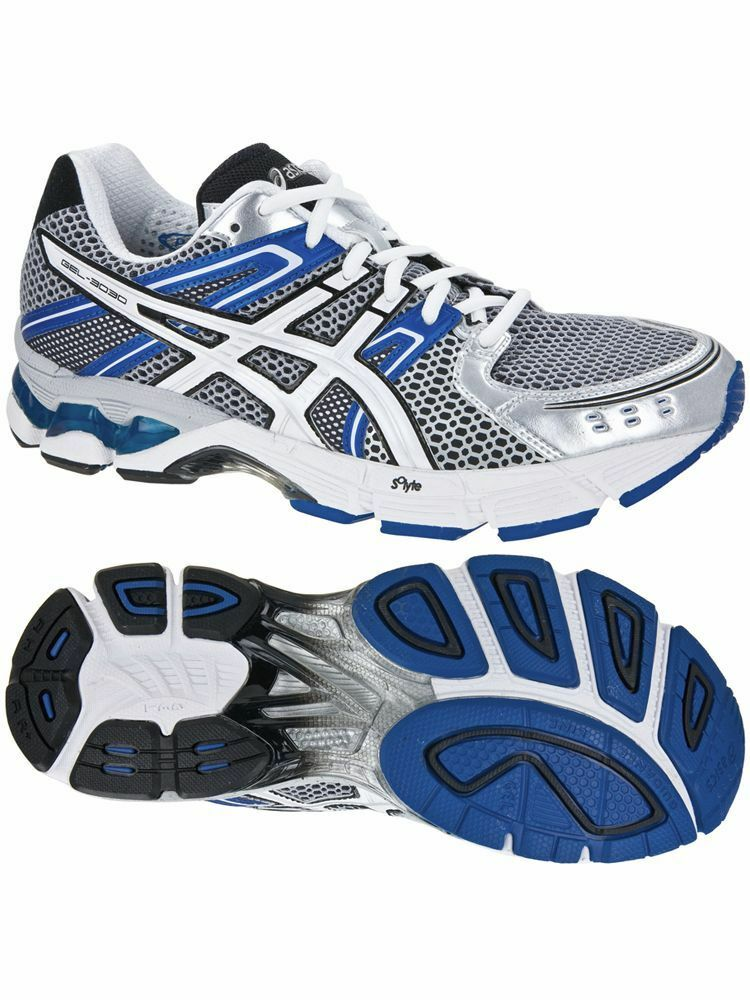ASICS MENS GEL-3030 3030 BLUE RUNNING TRAINING ATHLETIC GYM RUNNERS MEN'S SHOES