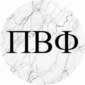 image is loading pi beta phi black and white marble with