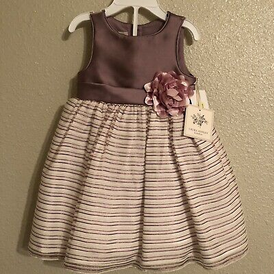 new NWT LAURA ASHLEY girls Cotton Blend Dressy Pink Dress sz 12 mo,18 mo 24 mo