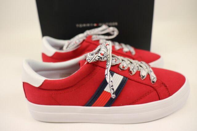 Red Canvas Fantim Logo Low Sneaker