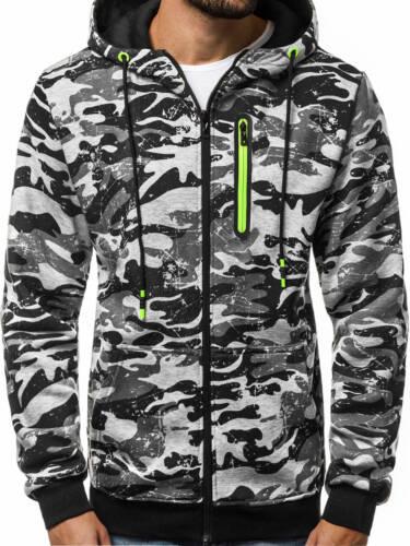 OZONEE JS//33013 Herren Kapuzenpullover Sweatshirt Pullover Kapuze Sweatjacke