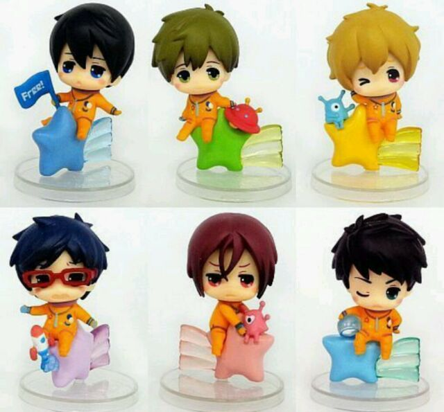 Free! Iwatobi Swim Club Star Night Figure set Haruka Rin Sosuke Eternal summer