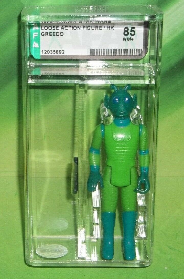 STAR WARS VINTAGE 1978 ANH CANTINA ALIEN BOUNTY HUNTER GREEDO COO HK AFA 85