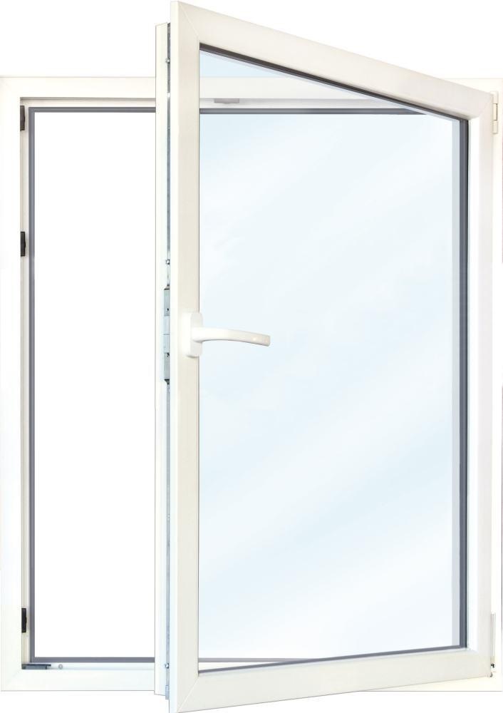 Meeth Fenster, weiß, 900 x 600 mm, DIN rechts - System 70 3S Euronorm, 1-flg ...