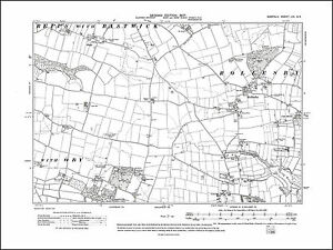 Repps Norfolk in 1907: 53SE repro Old map of Rollesby Burgh St Margaret