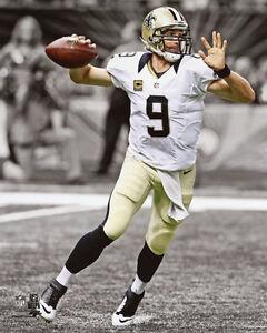 New-Orleans-Saints-DREW-BREES-Glossy-8x10-Photo-Spotlight-Football-Print-Poster