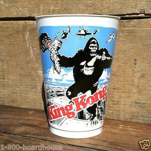 10-Original-KING-KONG-MOVIE-THEATER-Concession-Stand-Plastic-Gulp-CUPS-1976