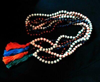 4 Tulsi Mala Japa Rosary Beads Necklace Yoga Meditation Spiritual Prayer Gifts