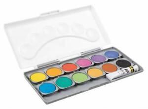 Farbkasten-12er-Deckfarbkasten-1-Tube-Deckweiss-Idena-12-Qualitaetsfarben