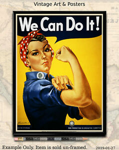 Details about Rosie the Riveter - World War II US Propaganda Poster WW2  8 5