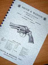 SMITH & WESSON .357 MAGNUM MODEL 27 Revolver Manual