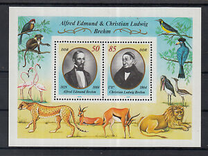 5096-Germany-East-1989-Brehm-039-s-Animal-Life-Miniature-Sheet-MNH