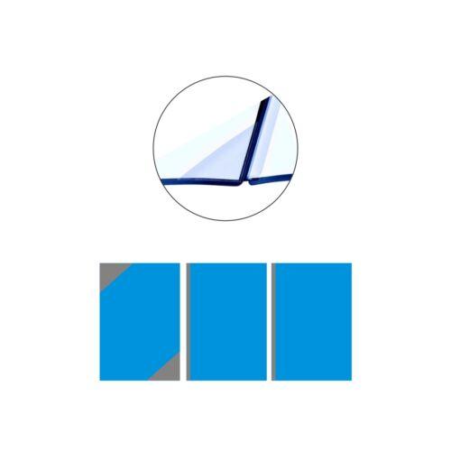 Pagna Square Bewerbungsmappen Schwarz 3-teilig aus Pappe Premium Bewerbungsmappe