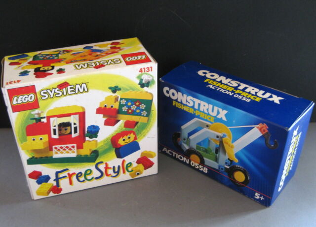 Lego system 4131 free style + Fisher Price construx 0558  vintage with box