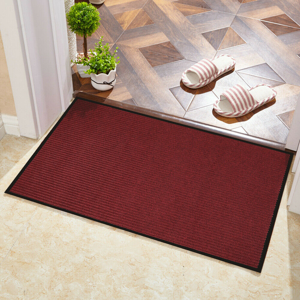 Garage 30 x 17 Inches Indoor Outdoor Rug Entryway Welcome Mats with Non-Slip Rubber Backing Suwimut 2 Pack Front Door Mats Dark Grey Waterproof Low-Profile Mats for Entry High Traffic Areas