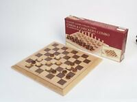 Deluxe Staunton Wood Chess And Checkers Set , New, Free Shipping on sale