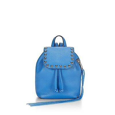 New Authentic Rebecca Minkoff Micro Unlined Backpack Denim Blue MSRP $245