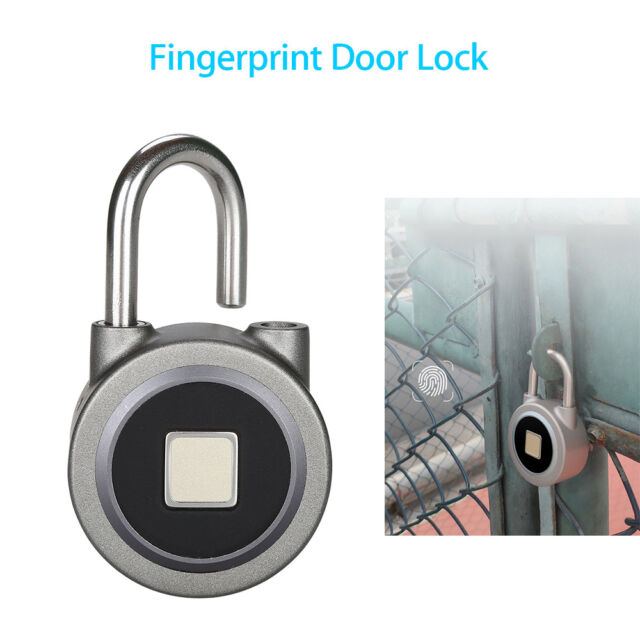 Fingerprint Padlock Keyless Door Lock Waterproof Ip65 Password Button Unlock