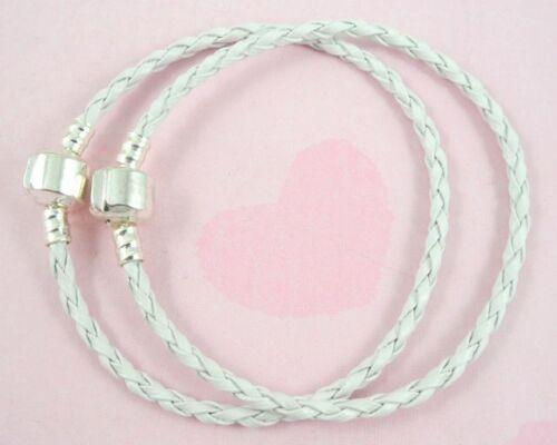 10x20x50x100x Galon Cuir Charme Bracelets fit European Beads picksizes /& Qté P11