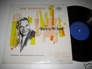 LP-BOB-HARRISON-SINGS-WORLD-IN-HIS-HAND-SIGNIERT-signed-AUTOGRAMM