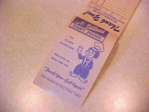 VINTAGE HOLLAND DAIRY FOODS HOLLAND, IN.  ADV. SALES RECEIPT BOOK-NEW/OLD STOCK