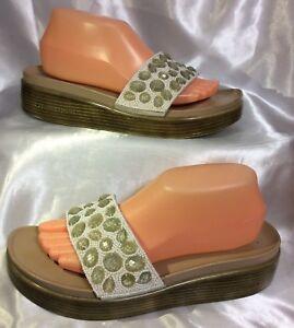 50826813d81 Donald J Pliner FiFi Italy Jeweled Crystal Slides Thong Sandals ...